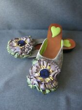 Goody Goody flower Slip on Heels shoes Size 7    #3