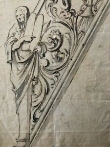 18th CENTURY OLD MASTER DRAWING of an 'Architectural Ornament' - TOP QUALITY