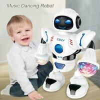 Electric LED Light Music Dancing Space Walking Robot Gift New Kids D4R6