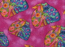 """Laurel Burch """"FELINES & CANINES"""" Kindred Spirits Dogs & Cats  - Quilt Fabric"""