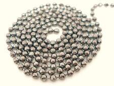 1 mètre ton argent balle chaîne 3mm bijoux artisanat collier perles finding T117