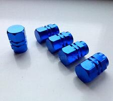Blue Hexagonal Alloy Dust Valve Caps for Hyundai Coupe Accent i10 i20 i30 Tucson