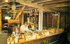 Smithville New Jersey~Gryst Mill Interior~Miller Himself~1960s Postcard