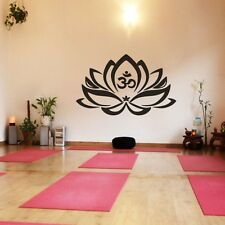 Yoga Lotus Flower Wall Decal Inspiration Removable Vinyl Home Bedroom Art Decor