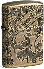 Zippo freedom skull design luxury