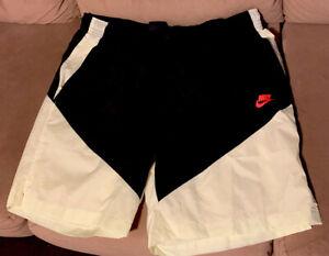 Nike Black And Lime Track Shorts 2XL Sportswear