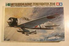 """Japan Mitsubishi A6M2 """"Zeke"""", 1/48 Tamiya kit 61016, 1982, Airplane Model Kit"""