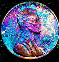 """1944 S Lincoln Wheat Penny Cent- """"Beautiful Toning"""" SUPERB GEM HIGH GRADE #02"""