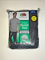 FRUIT OF THE LOOM pocket t-shirt 4 pack assorted colors !!!