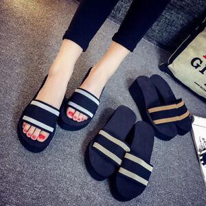 Women's Summer Wedge Platform Sandals Flip Flops Flat Sandals Casual Beach Shoes