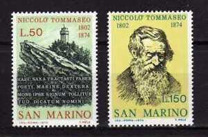 S27573) Dealer Stock San Marino 1974 MNH Nicolò Tommaseo 2v (X10 Sets)
