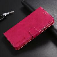 Pour iPhone, Samsung & Huawei, Coque Housse à Clapet Rabattable avec Porte-Carte