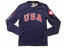 New Ralph Lauren Polo Navy 100% Cotton Authentic Olympics 2016 Team USA Shirt M