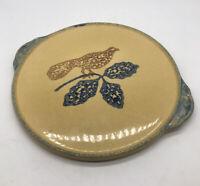 Vintage PFALTZGRAFF America #529 Round Cake Plate Serving Tray Spongeware Bird