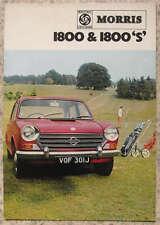MORRIS 1800 & 1800S Car Sales Brochure Dec 1970 #2720