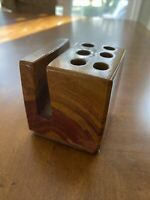 Vintage - Marble Stone Pen Pencil Holder w/ Note card nice Desk Accessory