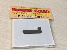 Number Count - Flashcards for Preschool 52 Cards- Number Teaching supplies