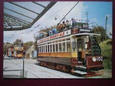 POSTCARD NEWCASTLE TRAMCAR NO 102 & GLASGOW TRAMS 812 & 1115