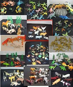 CLEARANCE REDUCED plastic farm wild zoo animal dinosaurs bugs cats dogs sets