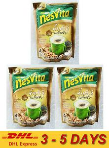 3 x Nestle Nesvita Instant Cereal Beverage Soy + Chia Seed formula 4 Sachet 92g.