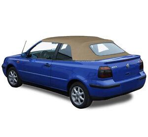 VW Volkswagen Golf Cabrio Cabriolet 1995-2001 Convertible Soft Top TAN Vinyl