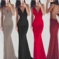 Fashion Women's Bodycon V-Neck Evening Party Cocktail Club maxi Dress
