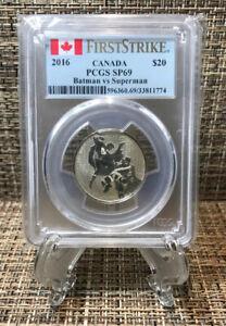 2016 CANADA BATMAN VS SUPERMAN PCGS MS69 $20 FS