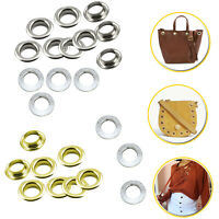 50/100pcs 6.5mm Eyelets with Silver Flat Washers for DIY Clothing Leather Purses
