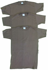 US Military Undershirts Brown Size Extra Large XL 3 Pack T-Shirt FREE SHIPPING!