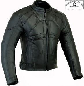 DARK RIDER SLIM STYLE MENS ARMOURED BLACK MOTORBIKE / MOTORCYCLE LEATHER JACKET
