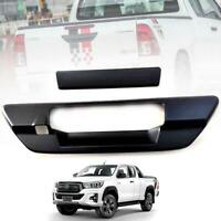 FOR TOYOTA HILUX REVO 2015-19 MATTE BLACK TAILGATE HANDLE COVER WITH CAMERA HOLE