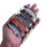 Lot 5pcs Soft Fishing Lures Silicone Bait Swimbait Bass Trout Fishing Tackle