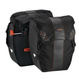 Ibera Bike Bag PakRak Clip-On Quick-Release All Weather Bike Panniers+Rain Cover