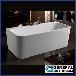 1500 x 750 x 580 mm Rectangle Acrylic Free Standing Bath Tub