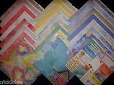 12X12 Scrapbook Paper Cardstock DCWV Collage Art Stack Pastel Watercolors 24 Lot