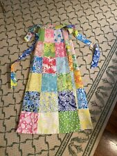 New listing Vintage 70-80s Lilly Pulitzer Patchwork Maxi Reversible Wrap Skirt S-M Rare!