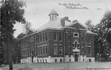 HILLSBORO IL 1907-14 Vintage View of High School LONG GONE ILLINOIS SCHOOL GEM++