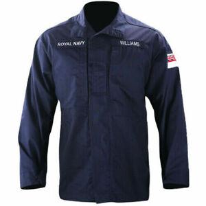 Genuine Royal Navy Jacket Shirt Combat Warm Weather Blue FR,RN New & Nearly New