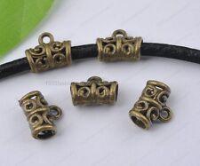 10Pcs antique bronze Bails charms Connectors hole 3MM