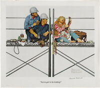 Norman Rockwell Construction Workers Giclee Canvas Print Poster Reproduction
