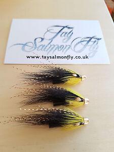 "3x Gledswood Shrimp Conehead 3/4"" Salmon Flies"