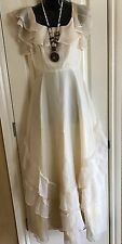 Antique Style Wedding Dress Size 8 Handmade Pendant Free Ship