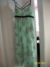 Vestido de verano precioso Forrado Con Tiras Dorothy Perkins Largo tamaño 20-butterflys