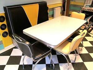 American Diner table and chairs x 4 - 1950's style