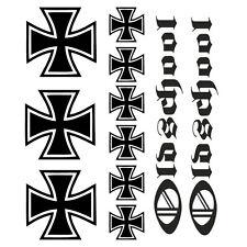 Iron Cross - Aufkleber Folie Tattoo Tuning Eisernes Kreuz Oldschool Ritterkreuz