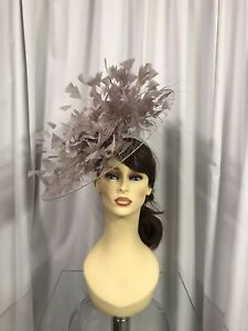 Snoxell & Gwyther Fascinator, Wedding Occasion, Formal Races In Taupe
