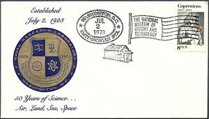 SMITHSONIAN EVENT COVER - NAVAL RESEARCH LABORATORY 50th ANNIVERSARY - CACHETED