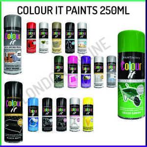 Spray Paint Aerosol Primer Matt Gloss Satin Lacquer Wood Metal Plastic 200/250ml