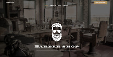 Website Barber Shop Includes Hosting Email And Domain Name