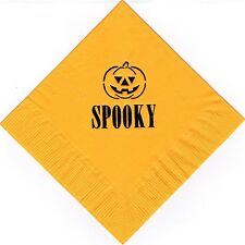 HALLOWEEN PUMPKIN LOGO 50 Personalized printed cocktail beverage napkins